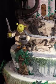 amazing shrek meets sleeping beauty wedding cake between the pages