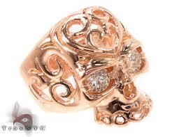 gold skull rings images Mens rose gold skull ring 2 mens diamond ring rose gold 14k jpg
