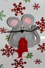 Christmas Mice Decorations 49 Best Mice Images On Pinterest Felt Crafts Dolls And Mice