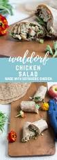 waldorf chicken salad wrap a no cook high protein lunch recipe