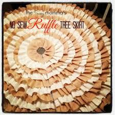 diy no sew ruffle tree skirt the sassy momma