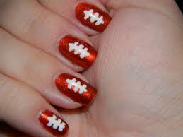 maybe maroon football with gold stripes nails pinterest