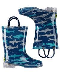 light up rain boots kid boy western chief deep sea sharks light up rain boots carters com