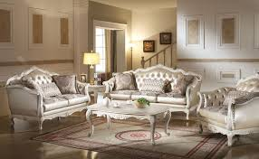 White Living Room Set Furniture Chantelle Formal Living Room Set In White