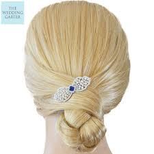bridal hair clip cz diamond blue bridal hair clip hair accessories 3 colours
