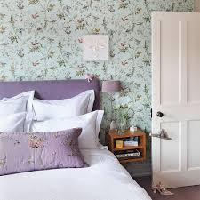 White Rose Bedroom Wallpaper Purple Bedroom Ideas Ideal Home