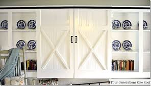 barn door for kitchen cabinets diy sliding barn doors our kitchen renovation four