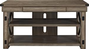Grey Oak Furniture Amazon Com Ameriwood Home Wildwood Wood Veneer Tv Stand For Tvs