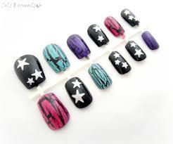 pastel crackle gothic nails punk rock nail art set celdeconail