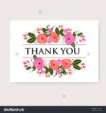 thank you card beautiful floral thank you cards watercolor thank