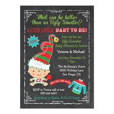 Christmas Baby Shower Invitations - ugly christmas sweater baby shower invitations zazzle com