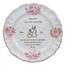poeme 50 ans de mariage noces d or assiettes souvenir de mariage en faïence blanche avec inscriptions