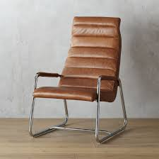 Leather And Wood Chair Terreno Leather Chair Cb2