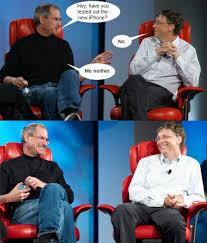 Bill Gates And Steve Jobs Meme - steve jobs vs bill gates comic meme collection 1mut com 19 1
