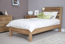 solid oak slatted 3ft single bed frame