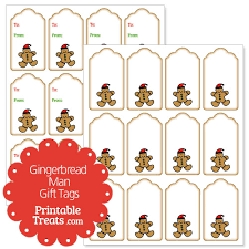 printable gingerbread man gift tags gingerbread man gift tags printable treats com