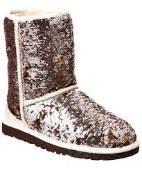 ugg sale cc ugg sparkles sequin textile and suede boot in brown