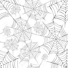 spider s web black and white vector pattern fro halloween royalty