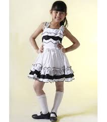 black and white designer kids party dress kids fancy dress