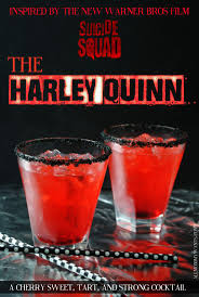 squad inspired cocktail the harley quinn http