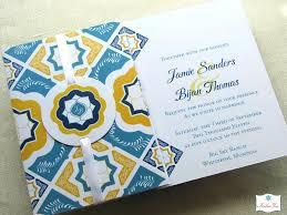 folded invitation mexican tile folded invitation w