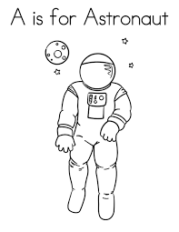 a is for astronaut coloring pages coloringstar
