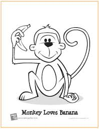 monkey loves banana free printable coloring