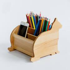 Wood Desk Organizer Wooden Desk Organizer Eco Wood Creative Kitten Shape