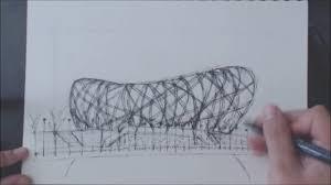 drawing the bird u0027s nest in beijing timelapse youtube