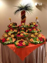 Table Buffet Decorations by Best 25 Pineapple Tree Centerpieces Ideas On Pinterest Pinapple
