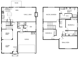 4 bedroom house plans 2 story 4 bedroom 2 story house floor plans house plans