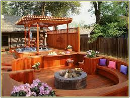 Backyard Decks Ideas Best Fire Pit On Wood Deck Ideas Home Decor Inspirations