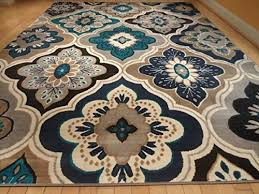 Area Rugs With Circles Enjoyable Ideas Blue And Brown Area Rug Incredible Decoration Echo