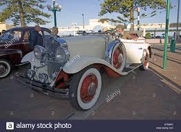 classic vintage 1930 white studebaker convertible motor car art