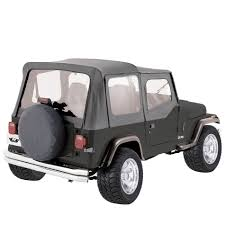 wrangler jeep black rampage products replacement soft top with skins for 88 95 yj jeep