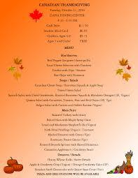 thanksgiving theme dana dining hall st lawrence university