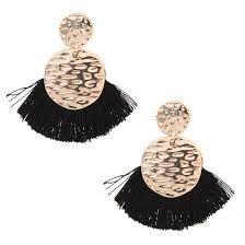 black drop earrings black tassel drop earrings icing us