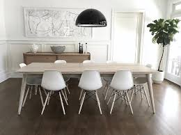 Molded Dining Chairs Light Gray Stained Dining Table With White Eames Molded Plastic