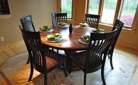 round dining table for 6 with leaf wooden round 6 seater dining table tables planbsmallclub