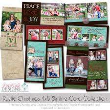 rustic christmas slimline 4x8 greeting card collection custom