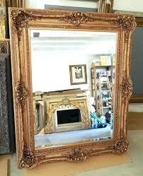 wall mirrors rustic timber framed mirror aspire rustic wood wall