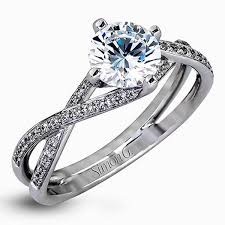 twist engagement ring g cut twist split shank diamond engagement