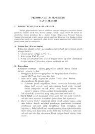 artikel format paper ilmiah pedoman penulisan karya ilmiah