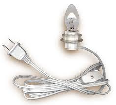 l cord sets with candelabra base light bulb national artcraft