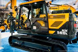 hyundai hx140l excavator hyundai unveils 2 new hx series