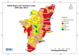 tamil nadu map soil moisture map for the state of tamil nadu aapah innovations