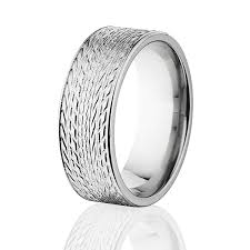 tire wedding rings tire tread titanium ring 8mm wide tire bands car ring