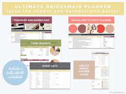 bridal shower planner digital wedding shower planner bridesmaid organiser of