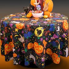 Fitted Oval Tablecloth Halloween Tablecloths