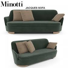 sofa minotti 3d minotti jacques sofa cgtrader